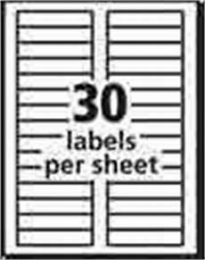 Avery Label Template 8167 Avery White Inkjet Return Address Labels 12 X 1 34 Box Of