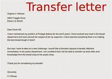 Transfer Letter Sample Transfer Letters Samples Samples Business Letters