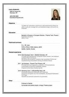 Resume For Job Interview Sample Of A Beginner S Cv Giga Cv