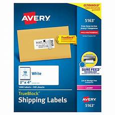 Avery Shipping Labels 5163 Avery 174 Laser Mailing Labels 2 Quot X 4 Quot White 1 000ct
