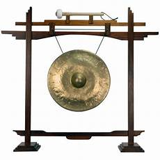 Gong Design 18 Quot Bronze Thai Gong On Rosewood Pedestal Stand The Gong