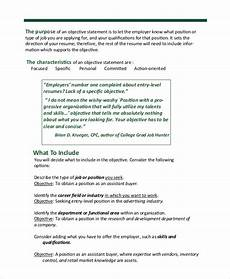 Objective For A General Resumes Free 6 Sample Resume Objective Templates In Ms Word Pdf