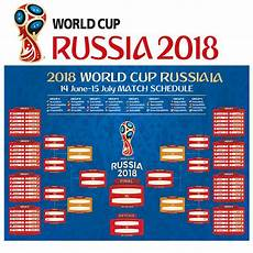 Fifa World Cup Russia Wall Chart Fifa World Cup Poster Wall Soccer Teams Games Russia 2018