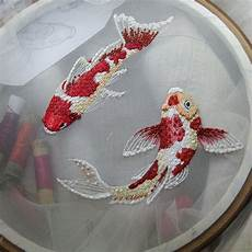 embroidery fish koi fish embroidery embroidery patterns embroidery