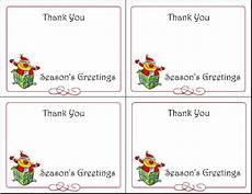 Printable Christmas Note Cards 6 Printable Holiday Gift Tags Christmas Cards Thank You