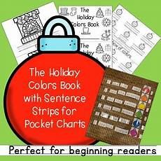 Cards And Pockets Color Chart The Holiday Colors Book With Pocket Chart Cards For Prek