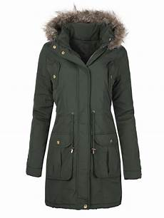coats for plus size womens winter faux fur hooded parka quilted jacket