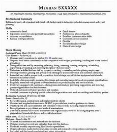 Pastry Chef Resume Example Assistant Pastry Chef Objectives Resume Objective
