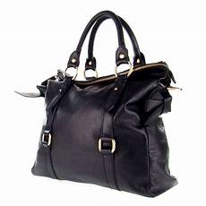 Designer Tote Studiomoda Italian Made Black Leather Large Designer
