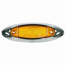 Amber Marker Lights Amber Led Side Marker Light With Chrome Bezel 4 State Trucks