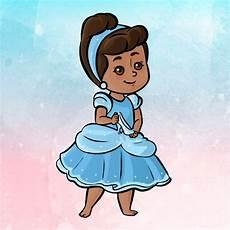 desenho para convite infantil princesas estilo fofo no