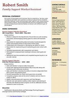 Care Worker Personal Statement Family Support Worker Resume Samples Qwikresume