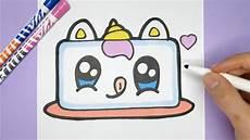 kawaii einhorn kuchen zeichnen und malen kawaii bilder