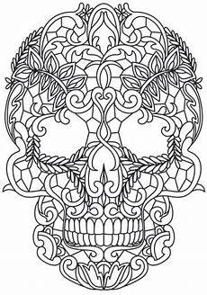Ausmalbilder Erwachsene Totenkopf Lacy Skull Threads Unique And Awesome Embroidery