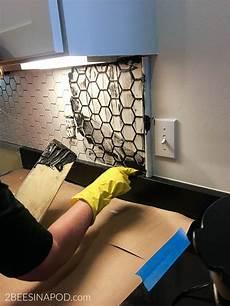 installing kitchen tile backsplash kitchen backsplash installation kitchen makeover part 5