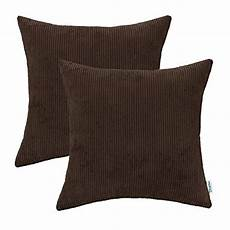 calitime pack of 2 comfy throw pillow covers cases for