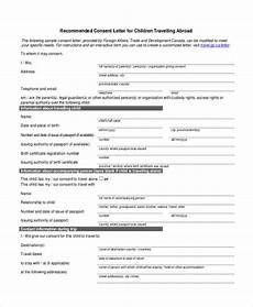 Child Travel Consent Form Samples Free 8 Sample Child Travel Consent Forms In Pdf Ms Word