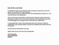 Thank You Letter For Interview Opportunity Thank You Letter After Job Interview 15 Download Free