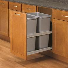 knape vogt 50 quart plastic pull out trash can at lowes