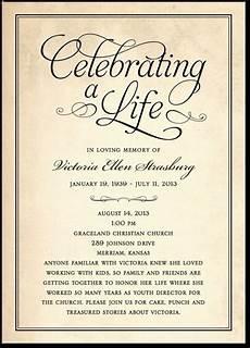 Sample Of Funeral Invitation Celebrating A Life Classic Black Or Brown Memorial