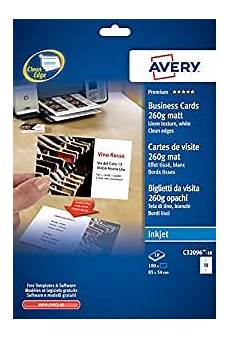 Avery Business Cards 10 Per Sheet Avery Quick And Clean Business Cards Inkjet 260gsm 8 Per