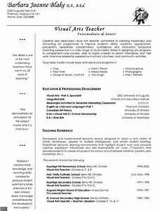 Art Teacher Resume Samples Visual Arts Teacher Resume With Images Teacher Resume