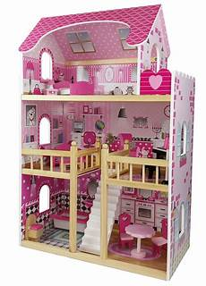 butternut large wooden dolls house with accessories