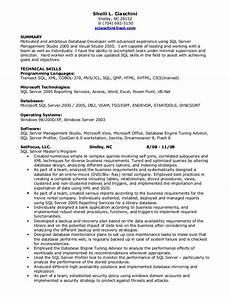 Resume For A Server Sql Developer Resume