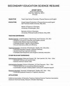 High School Teaching Resume Free 8 Sample High School Resume Templates In Ms Word Pdf