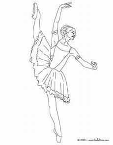 ballerina performing beautiful degage coloring pages