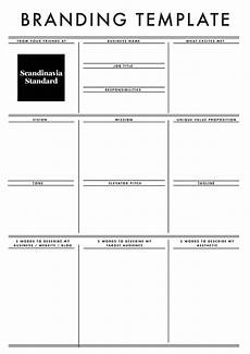 Branding Strategy Template An Easy Guide To Branding The Business Model Canvas Amp More