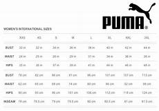 Puma Women Size Chart Size Guides Topper Sports Malaysia