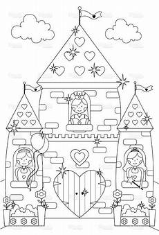Malvorlagen Prinzessin Schloss Outline Drawing Of Princesses At The Windows Of Their