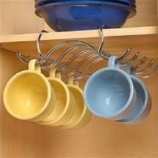 shelf coffee cup mug holder hanging rack cabinet