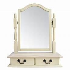 juliette shabby chic 2 drawer dressing table mirror