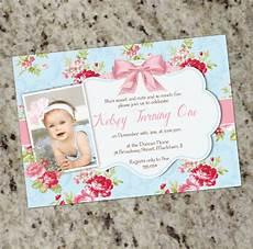 Baby Birthday Party Invitations Sweet Shabby Chic Party Invitation 1st Birthday Or