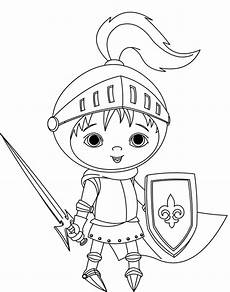 Malvorlage Ritter Einfach Ritter Coloring Pages