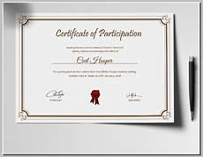 Certificate For Competition 28 Certificate Of Participation Designs Amp Templates Psd