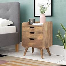 hazelwood home solid wood 3 drawer bedside table reviews