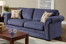 Blue Sofa Chair 3d Image by Plush Blue Fabric Casual Modern Living Room Sofa