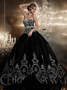 gorgeous embroidery trouwjurk luxury crystal black wedding