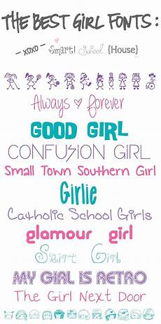 Girl Fonts The Best Girl Fonts Smart School House