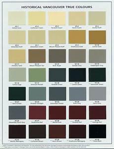 Heritage Paint Colour Chart Vancouver Heritage Foundation True Colours Palette