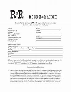 Puppy Contract Of Sale Puppy Contract Rocke Ranch