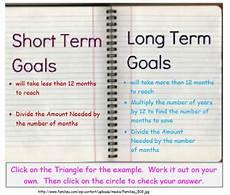 Examples Of Short Term Goals Remix Of Quot Short Term Vs Long Term Financial Goals Quot