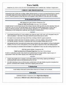 Resume For Child Care Director Child Care Resume Sample Monster Com