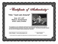 Make A Certificate Of Authenticity Certificates Of Authenticity For Artists Artsy Shark