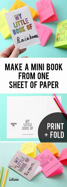 Paper Foldable Templates Foldables Make An 8 Page Mini Book From One Sheet Of
