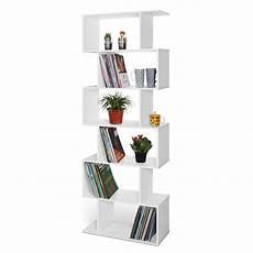 Lillyvale Wood Bookcase Bookshelf S Shape 6 Tier Shelves by C Wood Bookcase Bookshelf S Shape 6 Tier Shelves Free