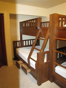 custom rustic knotty alder bunk bed by weber wood designs